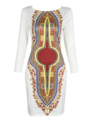 Choies Womens Contrast African Bodycon