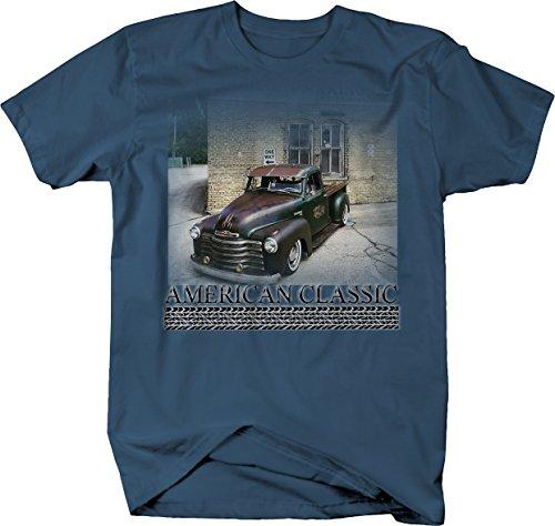 American Classic - 50's patina Chevy Hotrod Pickup Truck Tshirt - XLarge