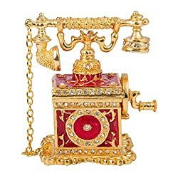T5 Vintage Style Telephone Shape Jewelry Trinket Box