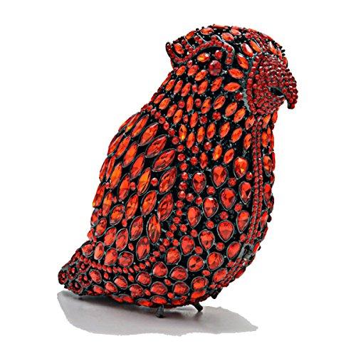 Luxe Sac Sacs à Gamme Chaîne Oiseau Embrayage Soirée De Diamant Mode Pleine PU B De Main Haut Sac Cuir ZqtIFF