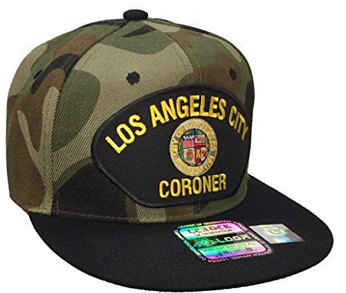 Los Angeles City Coroner Hat Camo and Black Snapback ()