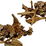 Dr. Moss Aquarium Small Malaysian Driftwood Luxurious Set for Fish Tank Decor, Real Wood Bogwood (2 pieces)