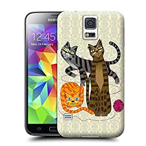 Unique Phone Case Three Cool Cats Hard Cover for samsung galaxy s5 cases-buythecase