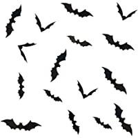 LIOOBO 36pcs Decorative Bat 3D Stickers DIY PVC Stickers Wall Decals Home Halloween Decoration Bat Wall Stickers for…