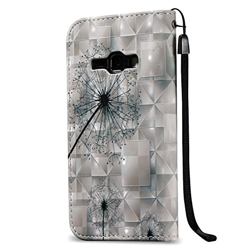 [Flip Case Cover] Funda Samsung J1(2016) Carcasa Sunroyal® Ultra Slim PU Leather Cuero Cobertura Bookstyle Wallet Cubierta Con [Función de Soporte] [Cierre Magnético] [Billetera con Tapa para Tarjetas A-02