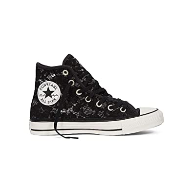f8a0c82fbfa Amazon.com | Converse Chuck Taylor All Star Hi Crochet & Lace Fashion  Sneakers Black/White/Black Size 8.5 Women | Fashion Sneakers