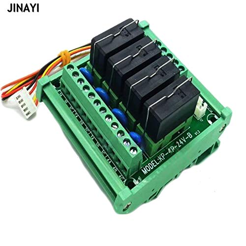 - Gimax 24V 16A DC 2/3/4/6/8/10/12/16 Channels PNP NPN Relay Module PLC Terminals DIN Rail Mounting Adapter Connector - (Color: 3 channels)
