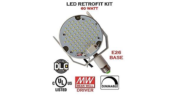 60 WATT UL, DLC Listed Retrofit Led Light Kit for Parking Lot, Shoe Box Street Pole Light - - Amazon.com