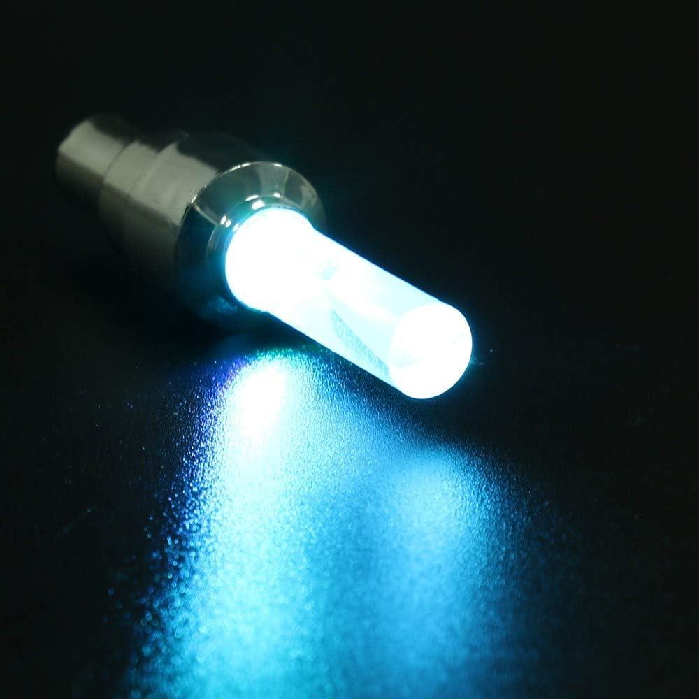Maxpex 6pcs LED Couleur Valve Lumi/ère le Bouchon de Valve de Pneu de Moto de Voiture de Bicyclette Flash LED Couvrent la Valve de Lumi/ère de Roue Couleur a Parl/é Lumi/ère