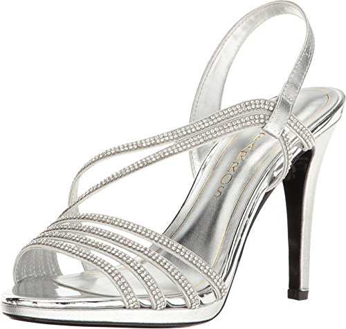 Caparros Women's Gazelle Silver Metallic Sandal