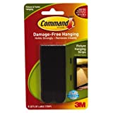 Command 17206BLK Large Picture Hanging Strips - Black (Pack of 4)