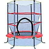 Trampoline with Safety Enclosure for Outdoor Toys of Kids