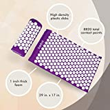 HemingWeigh Complete Acupressure Mat and Pillow Set with Bonus Carry Bag
