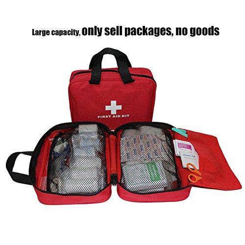 Kit vide de premiers soins en nylon Autoacc, sac de secours compact et léger pour les urgences à la maison, au bureau… 3