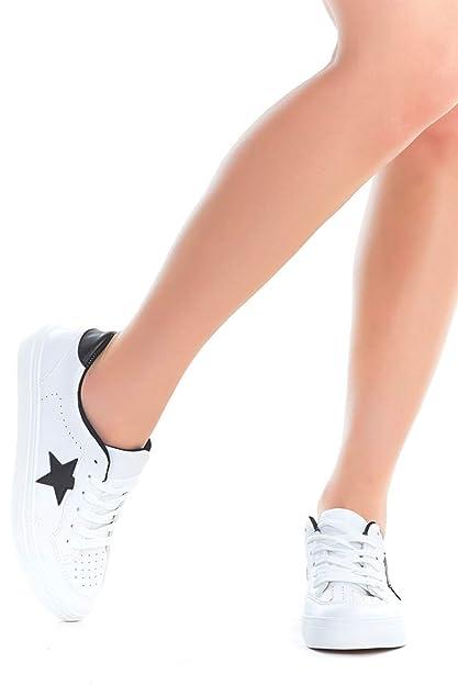 Amazon.com: Emma Shoes Zapatillas de mujer con cordones ...