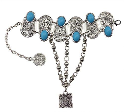 Idealway Silver Acrylic Pendant Bracelet