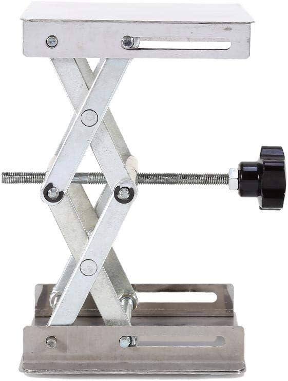 Broco 100x100mm Lab-Lift Plataformas de elevaci/ón del estante del soporte de acero inoxidable tijera