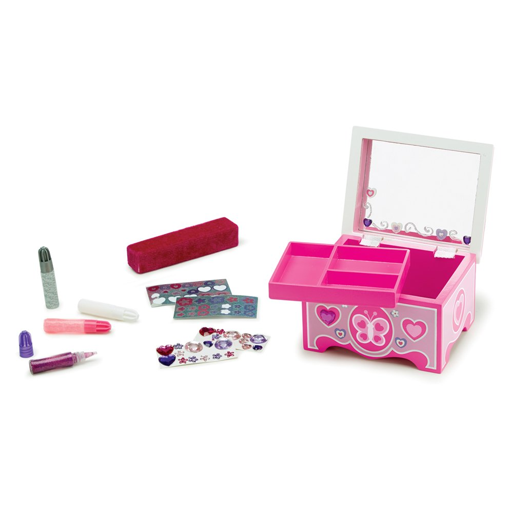Melissa & Doug Decorate-Your-Own Wooden Jewelry Box Craft Kit by Melissa & Doug (Image #2)