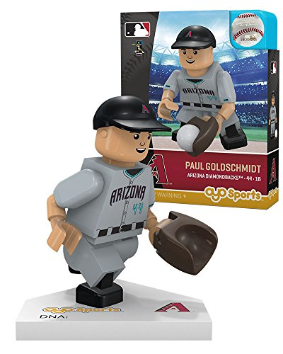 - Oyo Sportstoys MLB Los Angeles Dodgers Paul Goldschmidt Alternate Road Uniform Limited Edition Minifigure, Small, White