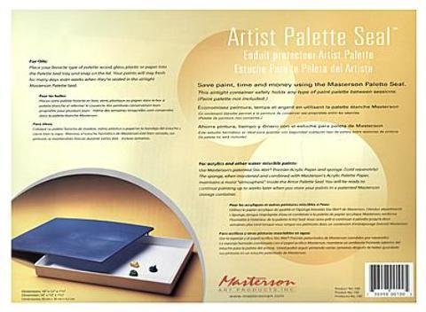 Seal Palette - MASTERSON ART PRODUCTS MAS100 Artist Palette Seal 16X12