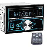 BOSS Audio 850BRGB Car Stereo - Double Din, Bluetooth Audio and Calling, MP3 Player, CD, USB Port, Aux Input, Am/FM Radio Receiver, Multi Color Illumination