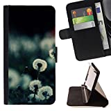 Momo Phone Case / Wallet Leather Case Cover With Card Slots - Plant Nature Forrest Flower 20 - Sony Xperia M4 Aqua