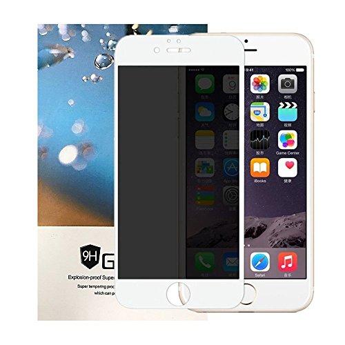 緩む小道ズームiPhone 8 覗き見防止フィルム Tiamat プライバシー防止 強化ガラスフィルム プライバシーガード 全画面保護 全面フルカバー 全面保護 気泡ゼロ 指紋防止 貼り付け簡単 ホワイト