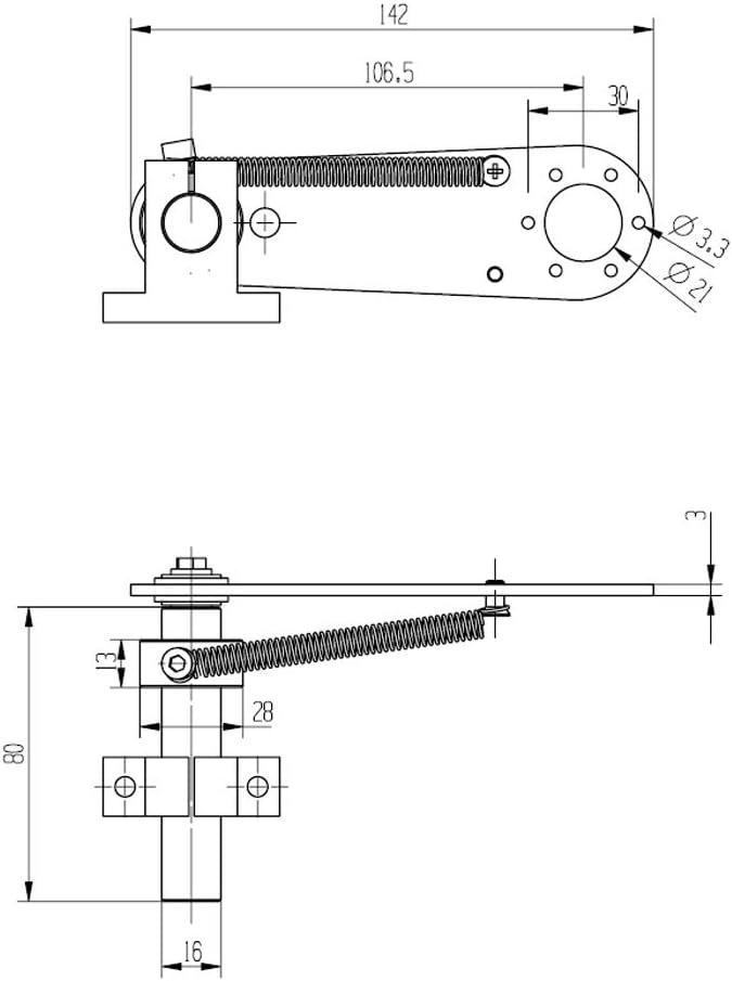 Liccx Encoder Mounting Stand Bracket Encoder Mounting Stand Bracket Accessories for encoders 38mm Outer Diameter 6mm Shaft