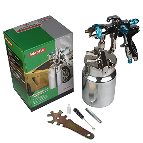 Professional HVLP Siphon Feed Spray Gun 1L Non-drip Paint Cup with Nozzle Tip Size 1.7mm by Shiningeyes (Image #5)