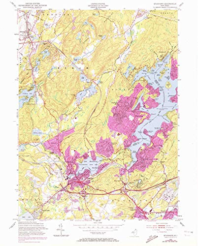 YellowMaps Stanhope NJ topo map, 1:24000 Scale, 7.5 X 7.5 Minute, Historical, 1954, Updated 1972, 26.8 x 21.5 in - Tyvek
