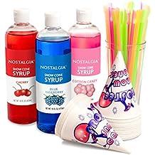 Nostalgia SCK3 Premium Snow Cone Syrup Party Kit