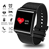Fitness Tracker,Smart Bracelet Activity Tracker Blood Pressure Heart Rate Monitor Outdoor Sports Fitness Watch Large Screen Smartwatch Wristband Bluetooth Pedometer with Sleep Monitor Men, ladies and children Fro Android&iOS