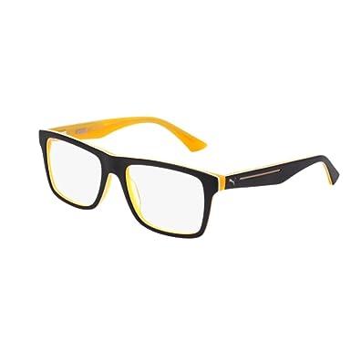 c2d1bce2586 Eyeglasses Puma PU 0052 O- 001 BLACK   Amazon.co.uk  Clothing