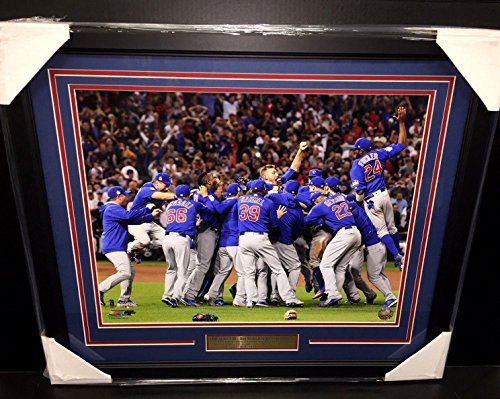 2016 CHICAGO CUBS WORLD SERIES CHAMPIONS TEAM FRAMED PHOTO 16x20 ()