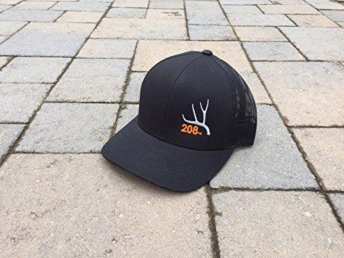 Idaho Trucker Hat Mule Deer Antler 208 Area Code Hat (Black)