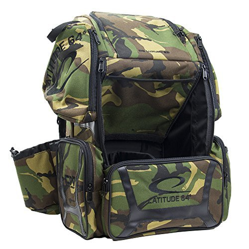 Latitude 64 DG Luxury E3 Backpack Disc Golf Bag Army Camo & Black by Latitude 64