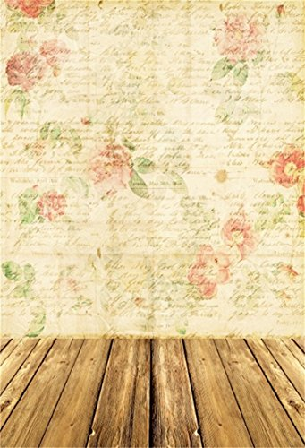 Vintage Rose Wallpaper - AOFOTO 5x7ft Vintage Flower Pattern Love Letters Background Floral Writing Paper Photography Backdrop Abstract Roses Photo Studio Props Wallpaper Girl Woman Lady Portrait