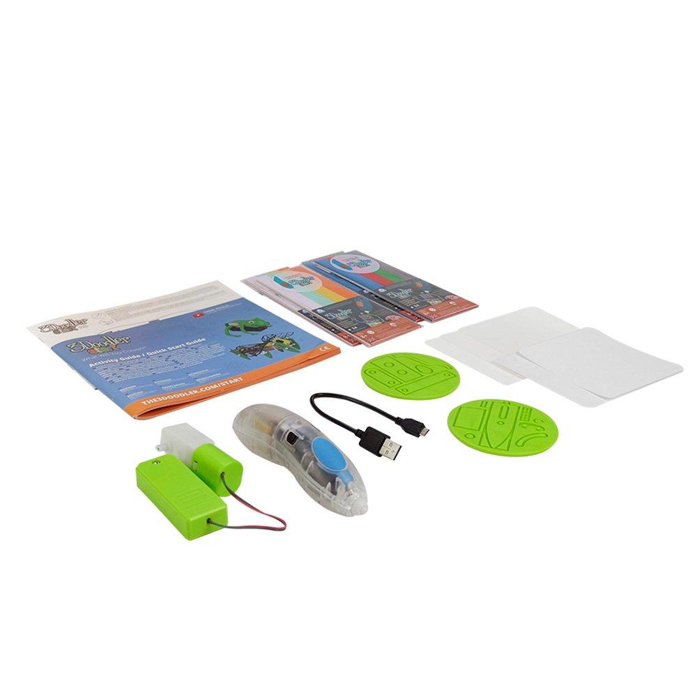 3Doodler Start Robotics Themed 3D Pen Set for Kids, Clear Pen, with 4 Pack of Refill Plastic Filaments by 3Doodler (Image #2)
