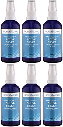 (6 PACK) - Higher Nature - Colloidal Silver Spray | 100ml | 6 PACK BUNDLE