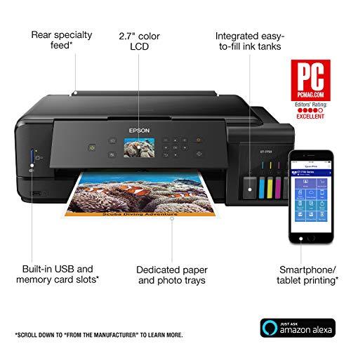 Epson Expression Premium EcoTank Wireless 5-Color All-in-One Supertank Printer con escáner, fotocopiadora y Ethernet