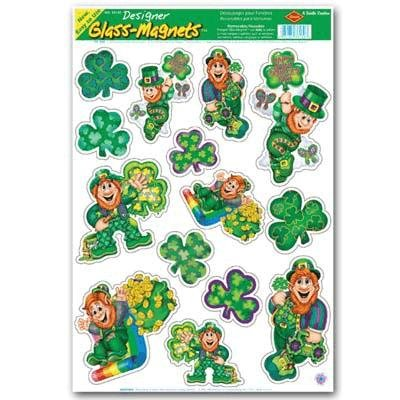 with St. Patrick's Day Window Clings design