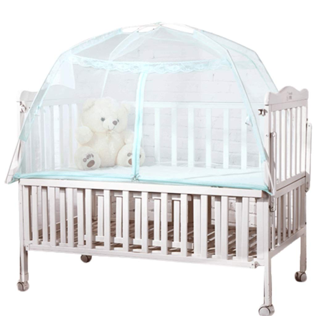 Mosquito Net Dust top Zipper Drop Children 1.5/1.8m Bed 2 m Household encryption Thickening Princess Wind (Color : A, Size : 1.2m Bed)