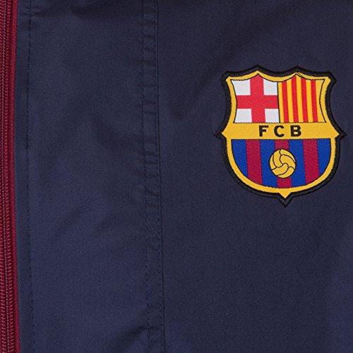 cortavientos Azul Barcelona Cremallera oficial Chaqueta Marino FC hombre Para Media EBqaa