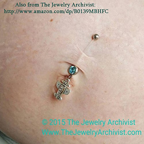 The Jewelry Archivist Maternity Flexible Belly Button Ring Bar