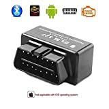 (US) Car Wifi OBD II Scanner, Eunavi Auto Diagnostic Scanner Tool Bluetooth 1.5 OBD2 ELM327 Scanner Check Engine Light OBDii Bluetooth Car Diagnostic Scan Tool for Android Devices