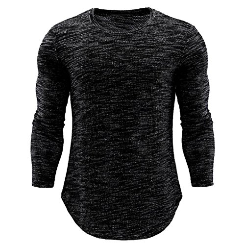 Clearance Sale! Wintialy Fashion Personality Men's O Neck Casual Slim Long Sleeve Shirt Top Blouse