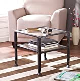 Wildon Home Small Contemporary Metal and Glass Top Coffee Table - It Has Beautiful Black Finish and Unique Design. This Small Coffee Table Is the Perfect Addition to Every Corner in You Living Room, Dining Room, Bedroom or Office. The Square Coffee Table Can Also Be Used Outdoor. It Has One Shelf Where You Can Put Magazines, Book and Many More. 1 Year Limited Warranty!