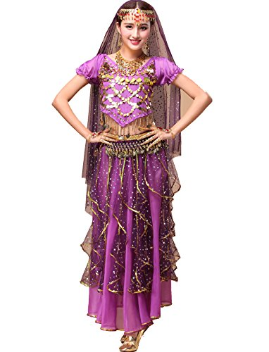 Astage Women`s Belly Dance Costumes / Performance Gifts,Purple All Accessories from Astage