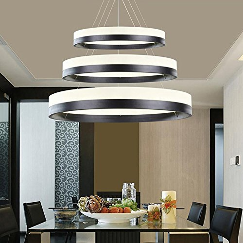 Moooni Ring Chandeliers Lighting Contemporary Pendant Lighting for Dining Room (11.8″, 19.7″, 27.6″)