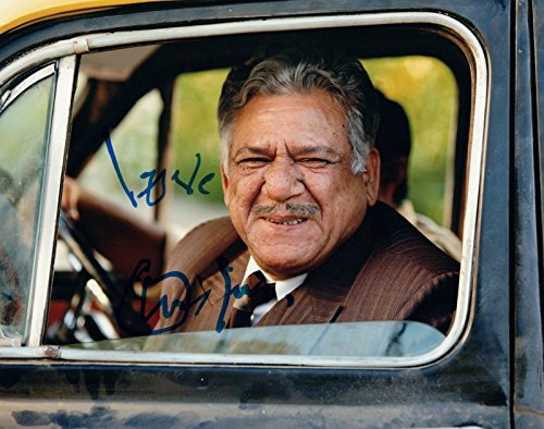 (Om Puri Signed Autographed 8x10 Photo The Hundred Foot Journey Bollywood COA)